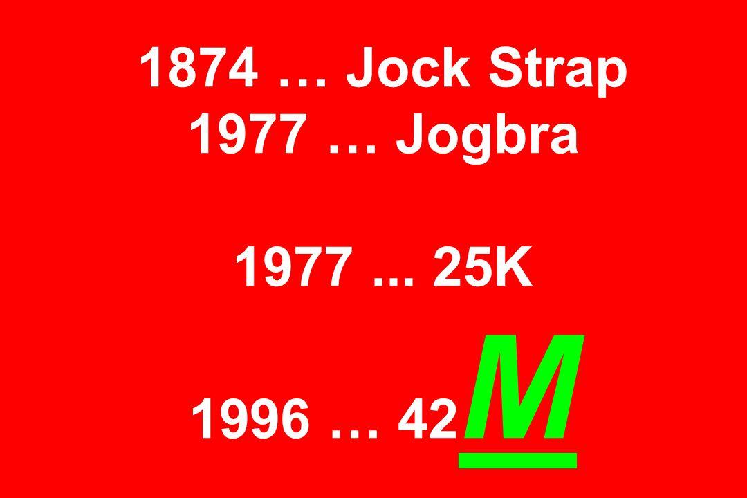 1874 … Jock Strap 1977 … Jogbra 1977... 25K 1996 … 42 M