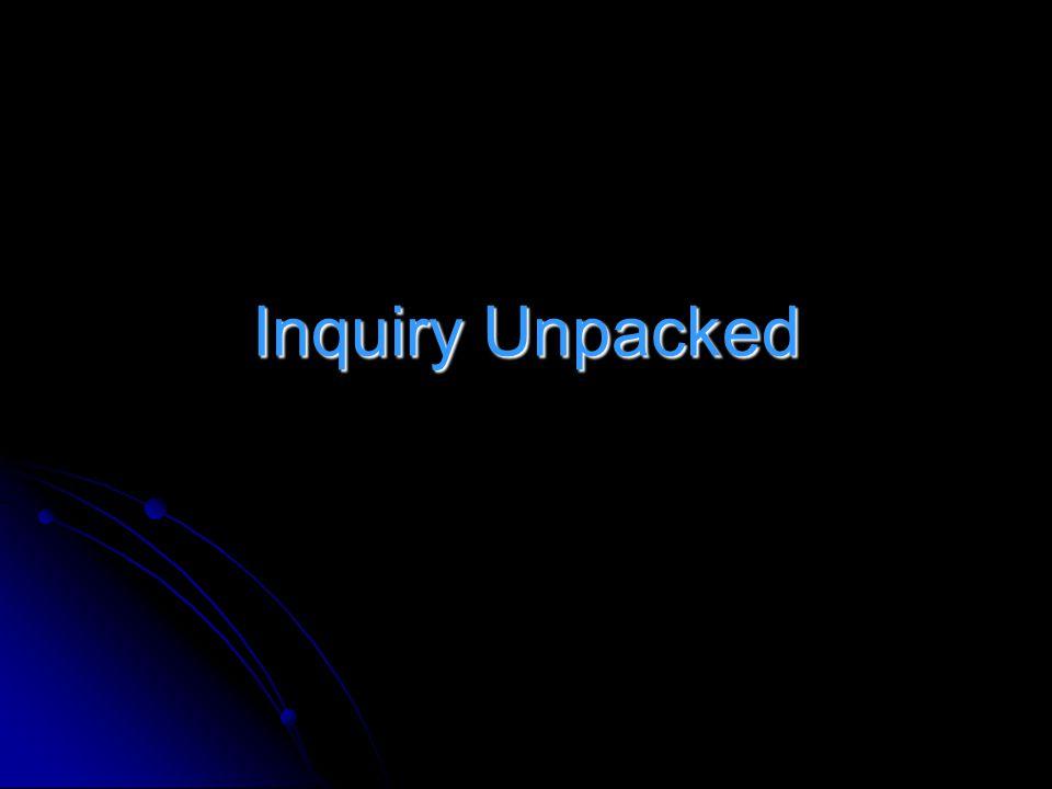 Inquiry Unpacked