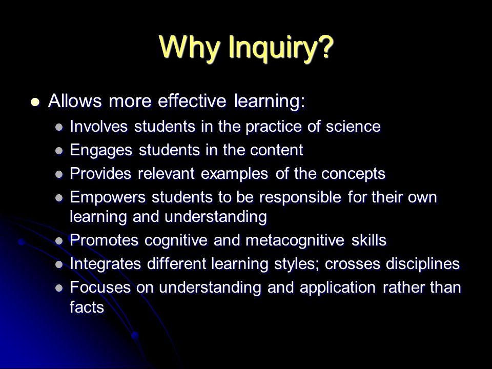 Why Inquiry.