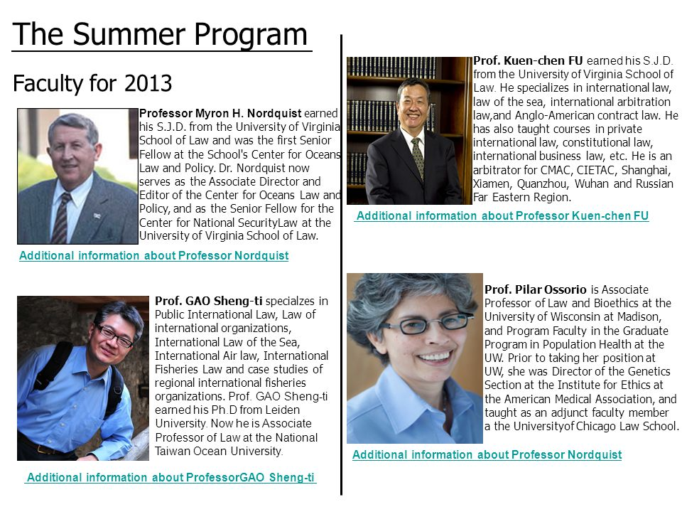 Faculty for 2013 Prof.