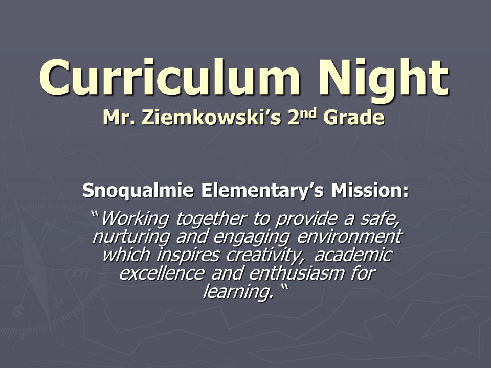 Curriculum Night Mr.