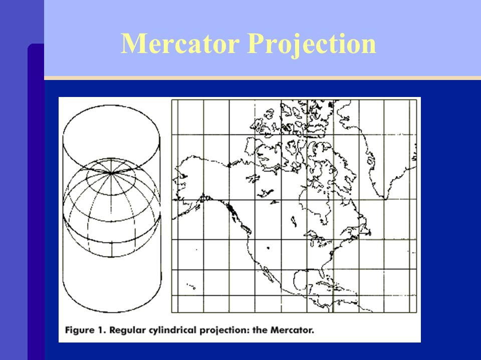 Projections and Distortion Ø Map projections project the Earth s surface onto a flat plane.