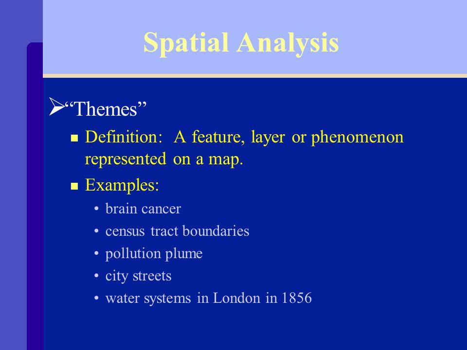 Spatial Analysis Ø Overlays 12 3 45 6 7 8 910