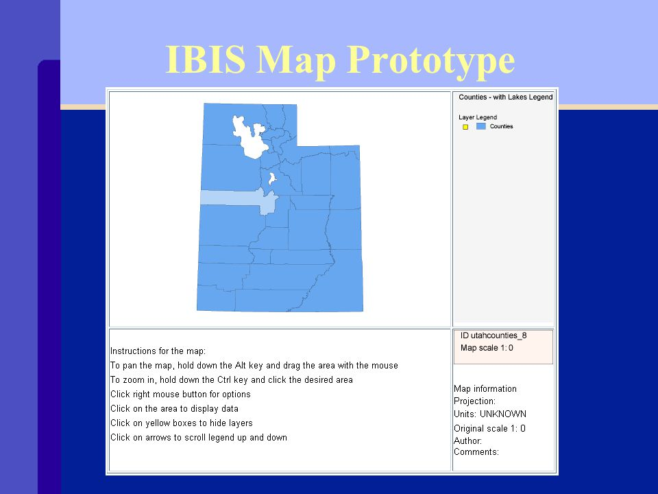 Timeline for IBIS Maps Ø Map prototype - done