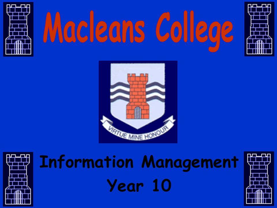 Information Management Year 10