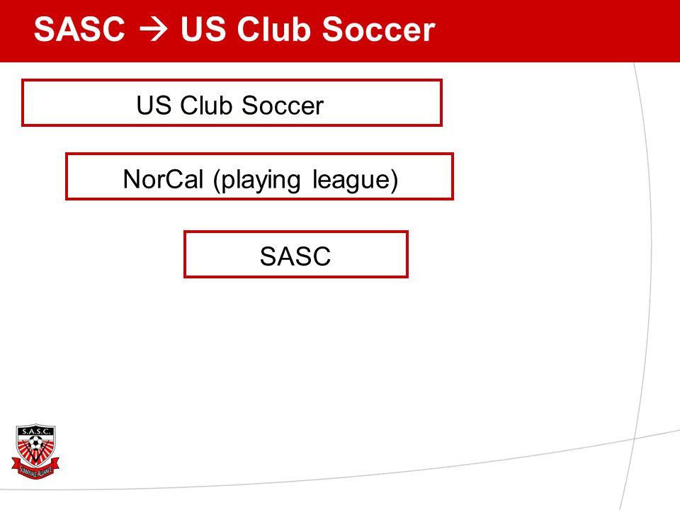 SASC  US Club Soccer US Club Soccer SASC NorCal (playing league)