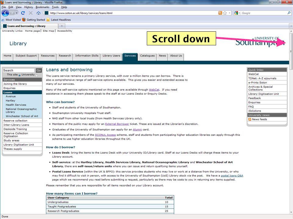 28 Scroll down