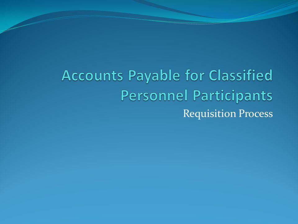 Requisition Process