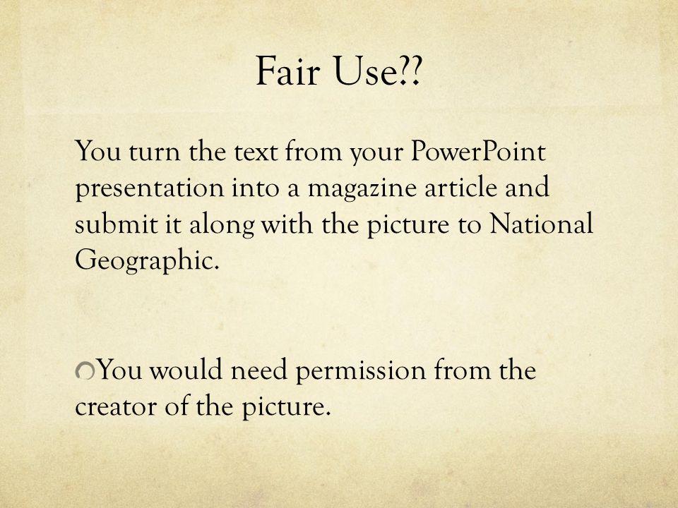 Fair Use .