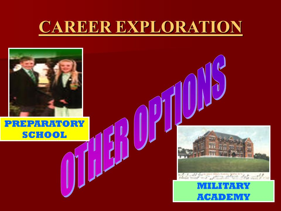 PREPARATORY SCHOOL MILITARY ACADEMY CAREER EXPLORATION