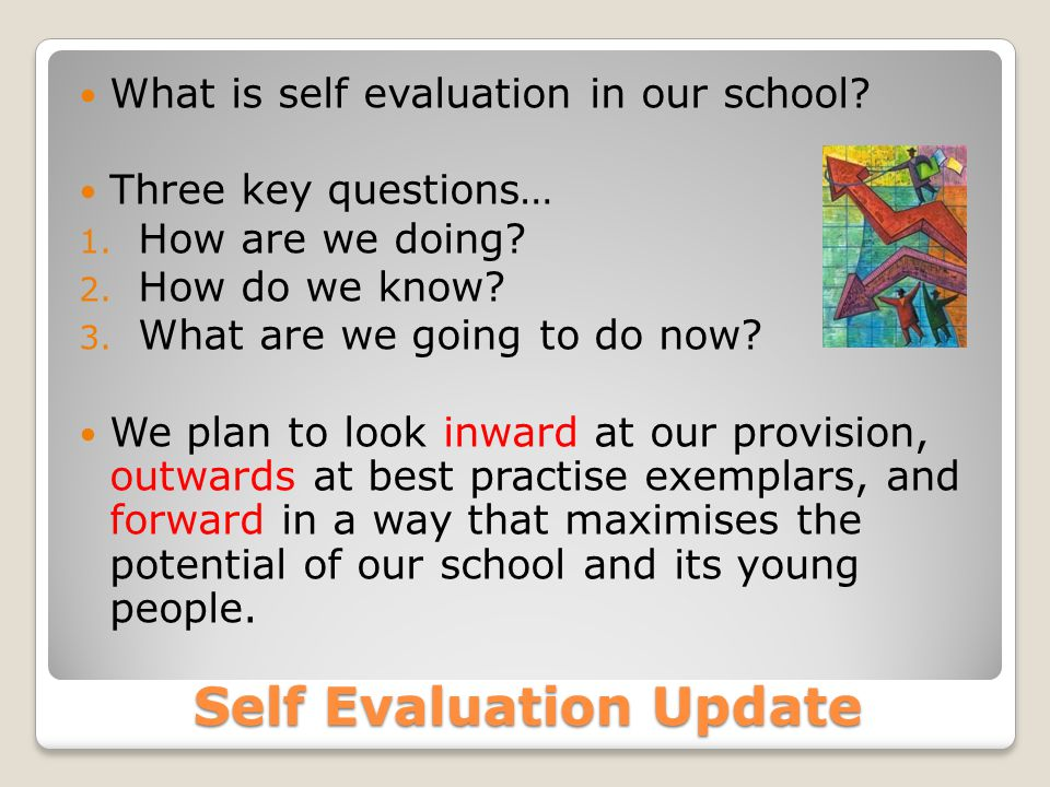 Self Evaluation Update What is self evaluation in our school.