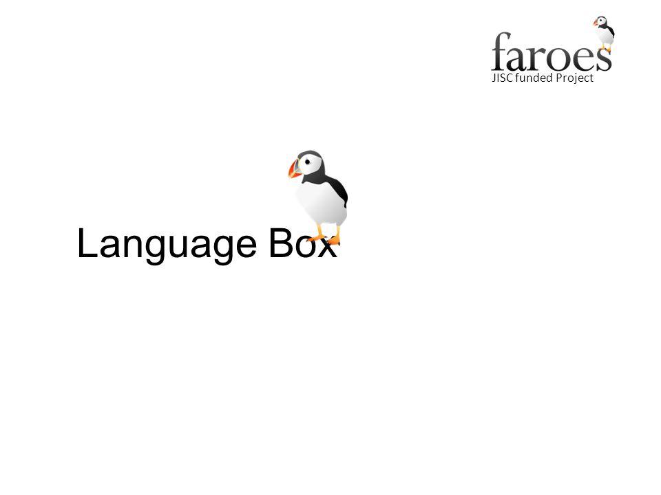 JISC funded Project Language Box