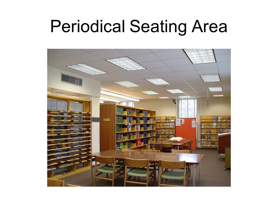 Periodical Seating Area