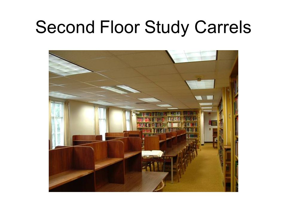 Second Floor Study Carrels