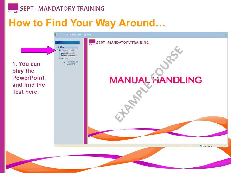 SEPT - MANDATORY TRAINING 2.