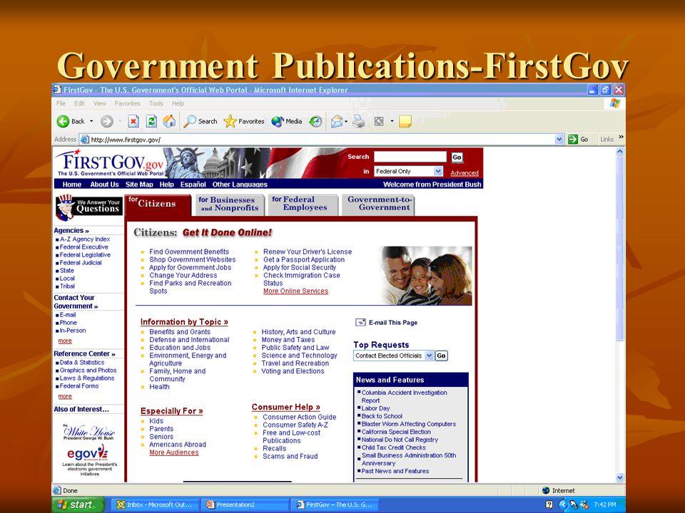 Government Publications-FirstGov