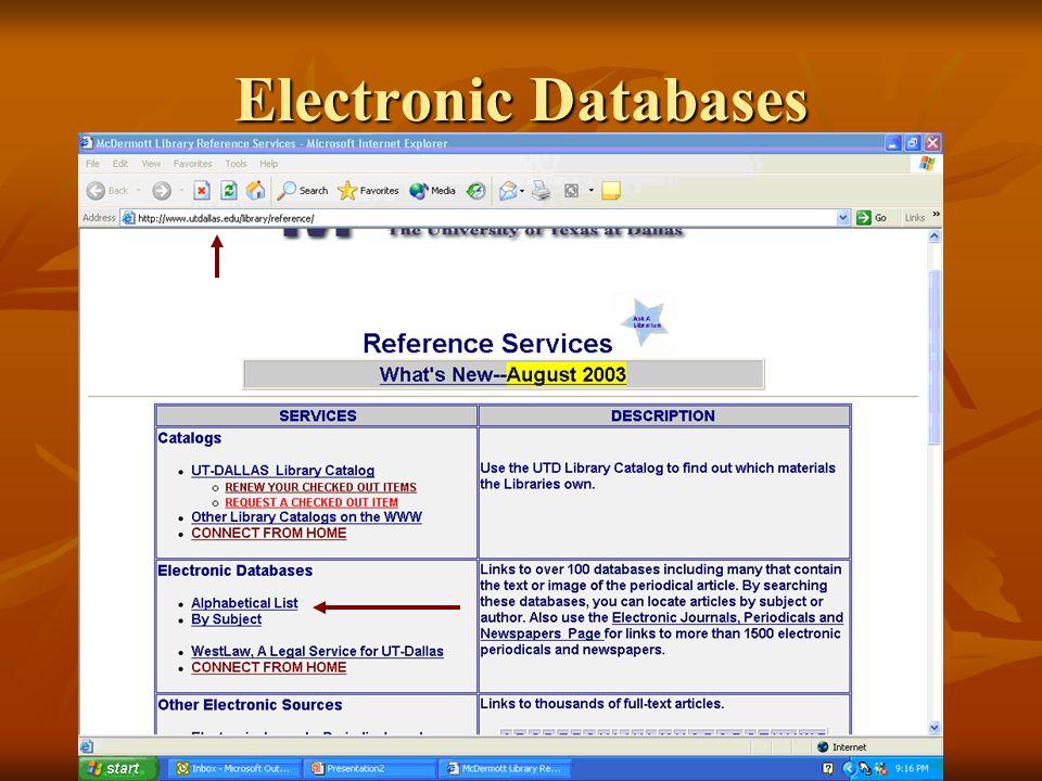 Electronic Databases