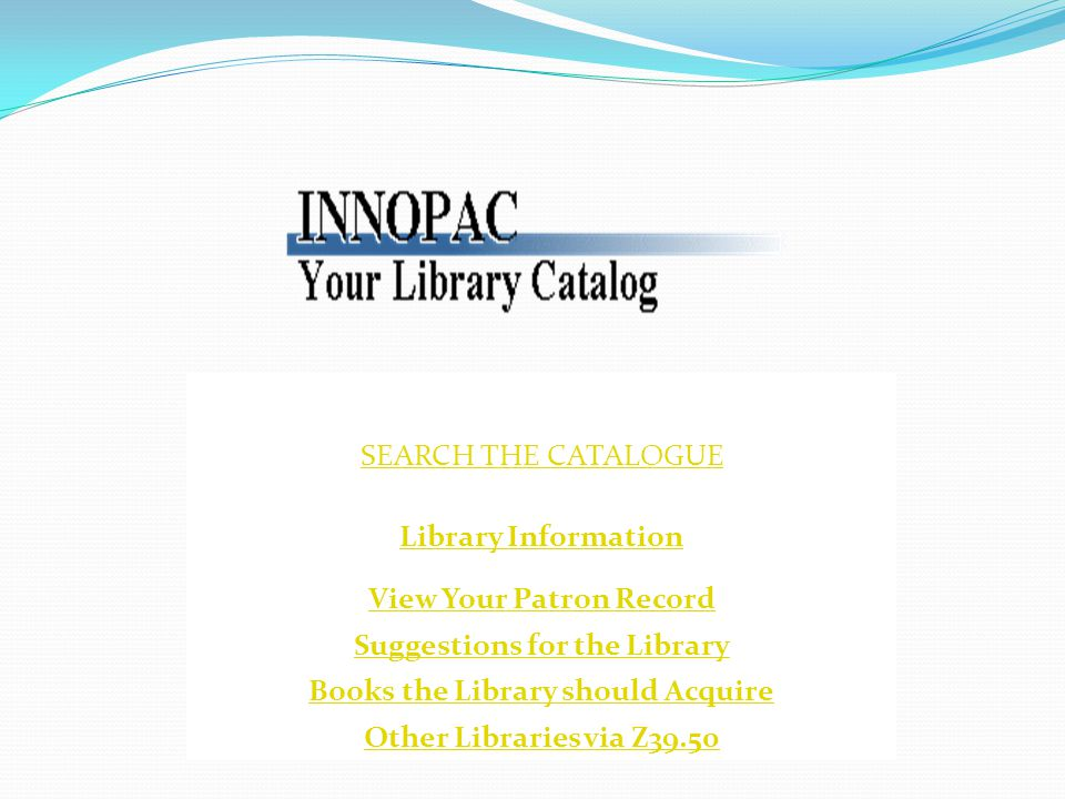 How to search the Online Library Catalogue If the Computer is off.
