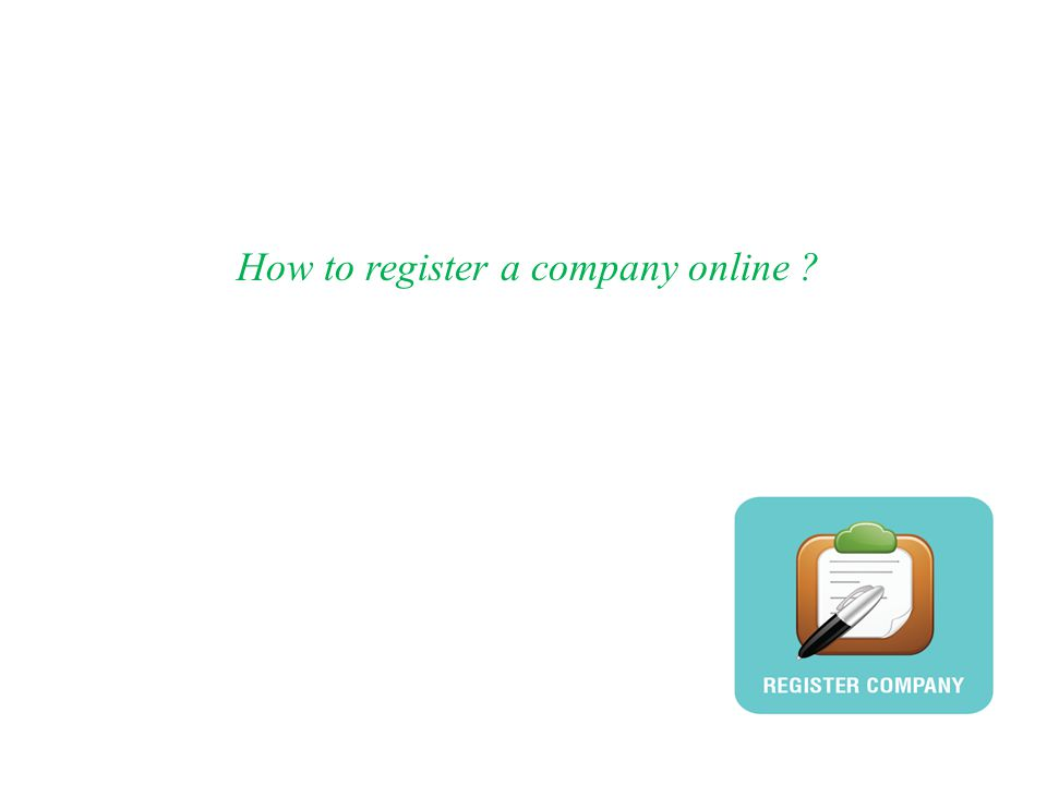 How to register a company online ?