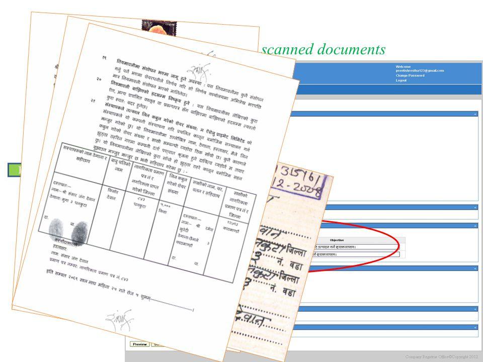 3. Fill web form & upload scanned documents Enter other details