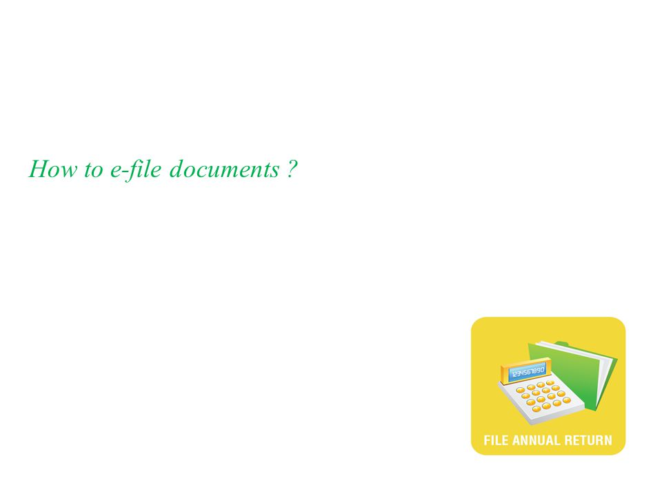 How to e-file documents ?