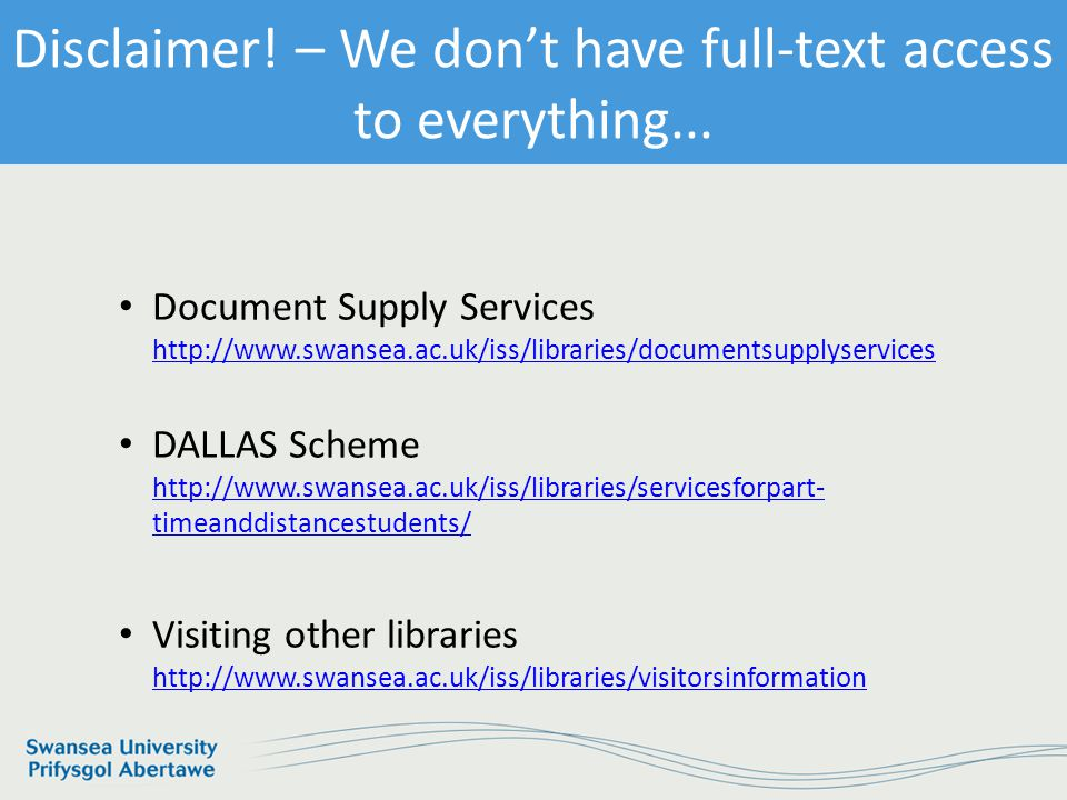 Information Services and Systems No Full Text Access – What can I do.