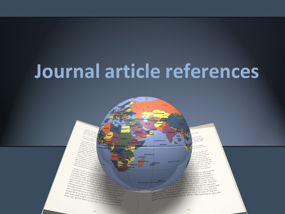 Journal article references