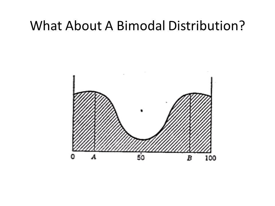 What About A Bimodal Distribution?