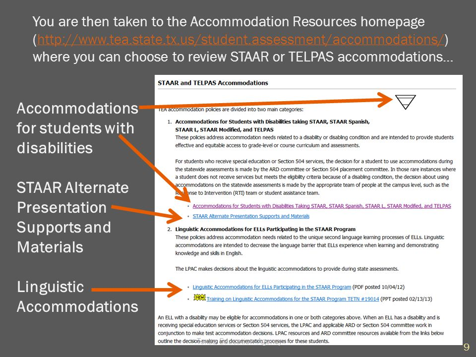  This accommodation is for students whose disability affects hearing or focus and can include (but is not limited to) speakers frequency-modulated (FM) system  Any student (e.g., general ed., special ed., 504) can receive this accommodation if he/she meets the eligibility criteria.