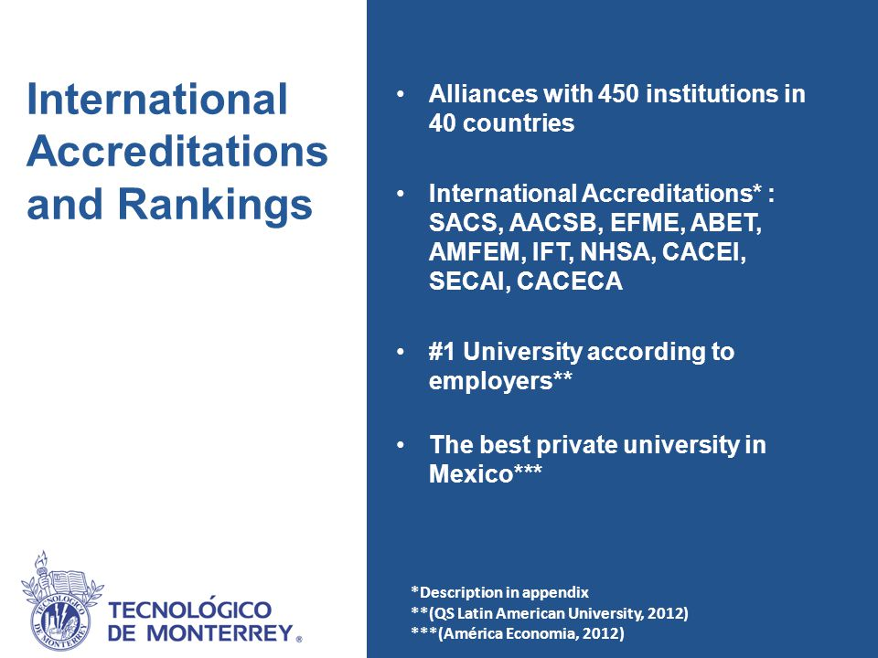 El Tec en el mundo Sites and international offices around the world Locations in Mexico GLOBAL PRESENCE