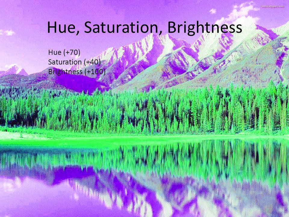 Hue (+70) Saturation (+40) Brightness (+100)