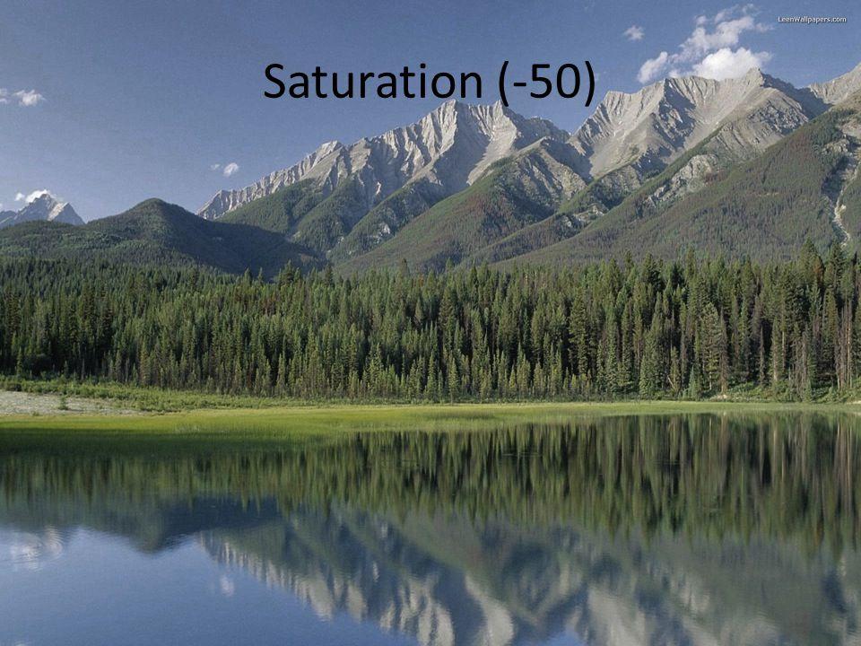 Saturation (-50)