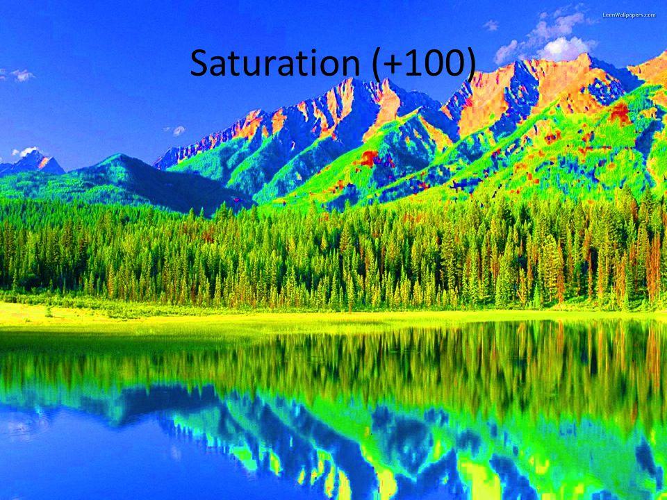 Saturation (+100)