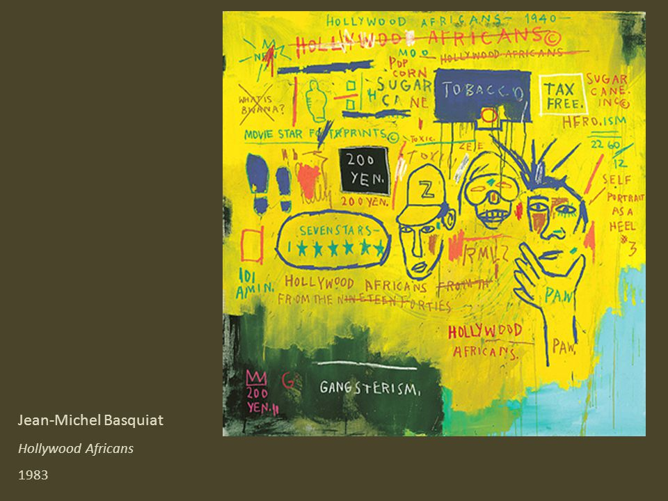 Jean-Michel Basquiat Hollywood Africans 1983