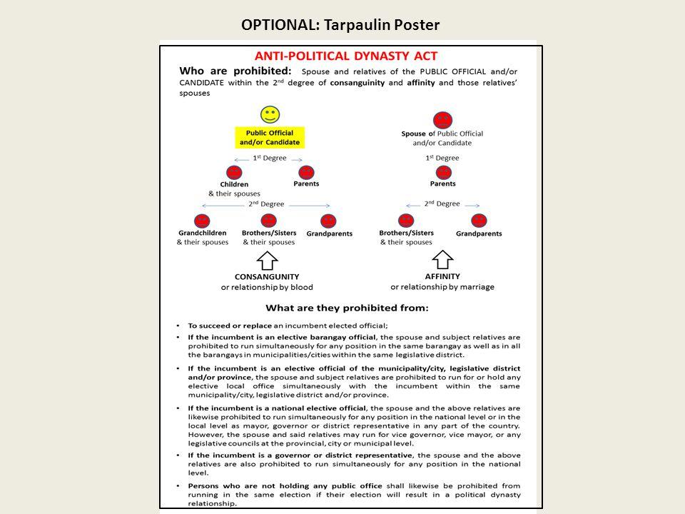 OPTIONAL: Tarpaulin Poster