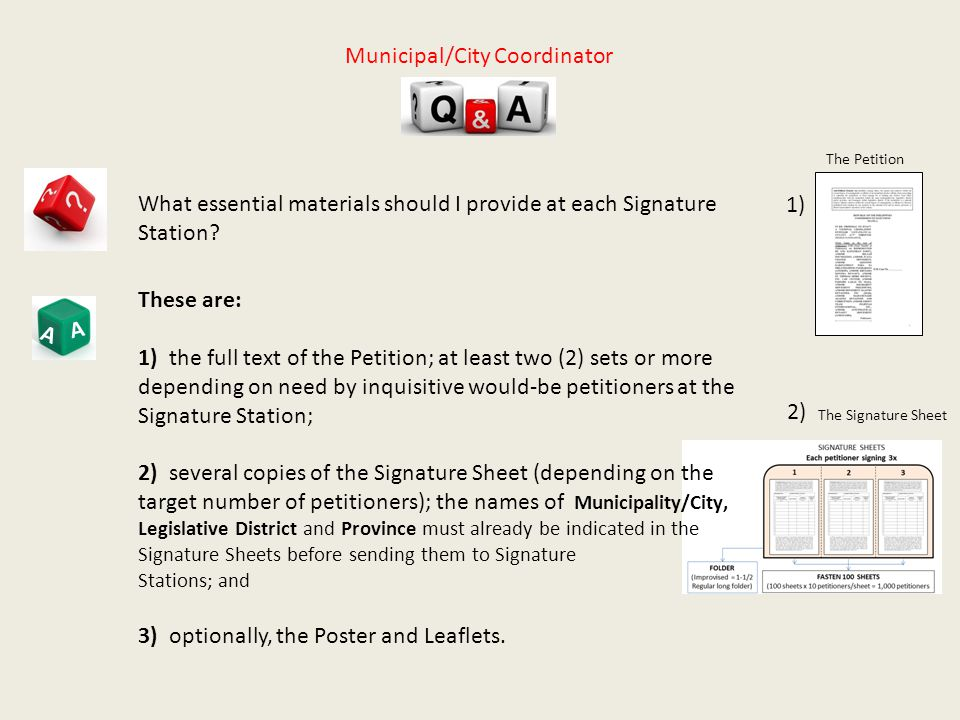 A A What essential materials should I provide at each Signature Station.