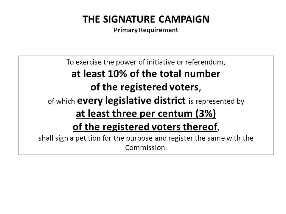 A A Besides the full text of the Petition, what other information media can be made available to would-be petitioners at each signature station.