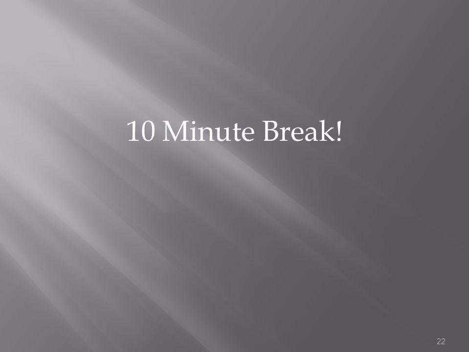 10 Minute Break! 22