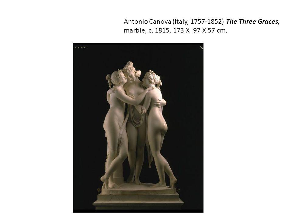 Antonio Canova (Italy, 1757-1852) The Three Graces, marble, c. 1815, 173 X 97 X 57 cm.