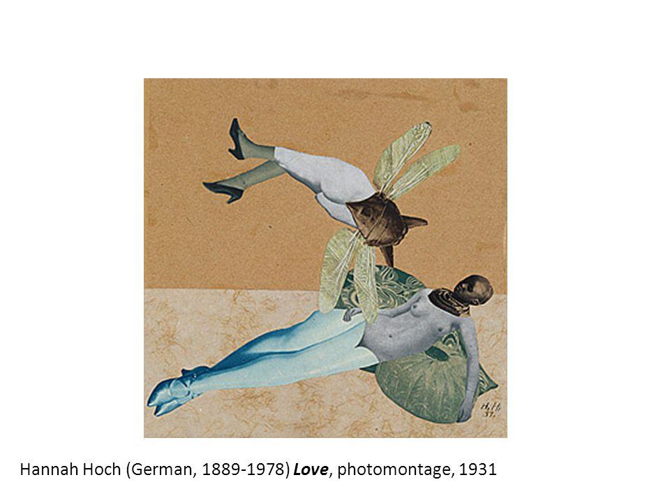 Hannah Hoch (German, 1889-1978) Love, photomontage, 1931