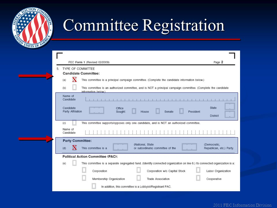 2011 FEC Information Division Committee Registration