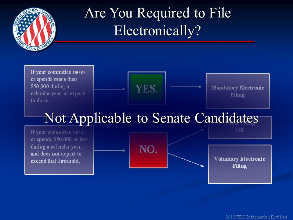 2012 FEC Information Division Filing Date Resources FEC Recommended