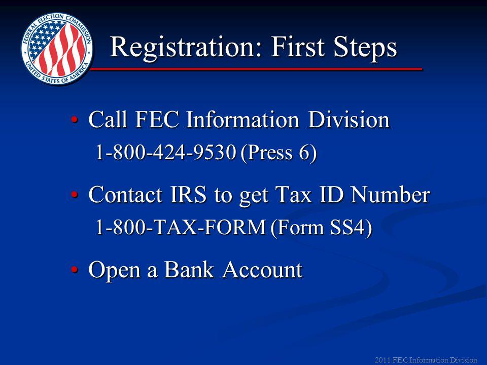 2011 FEC Information Division Campaign Finance Laws Basic Registration ThresholdsBasic Registration Thresholds ▼ Local Party Organizations Raises > $5