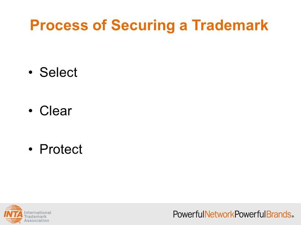 Selecting a Mark The more distinctive the mark, the greater its level of legal protectability.