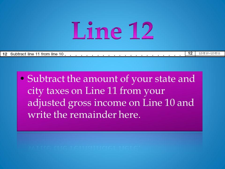 LINE 10 – LINE 11