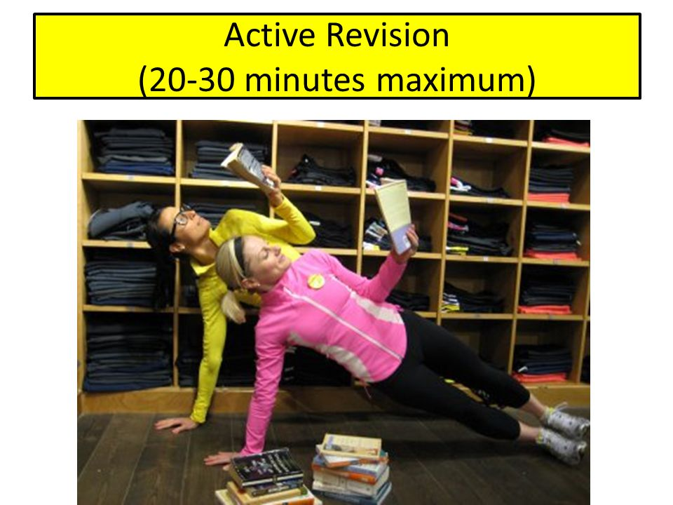 Active Revision (20-30 minutes maximum)