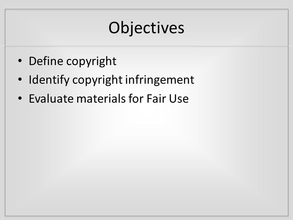 Copyright – What is protected.