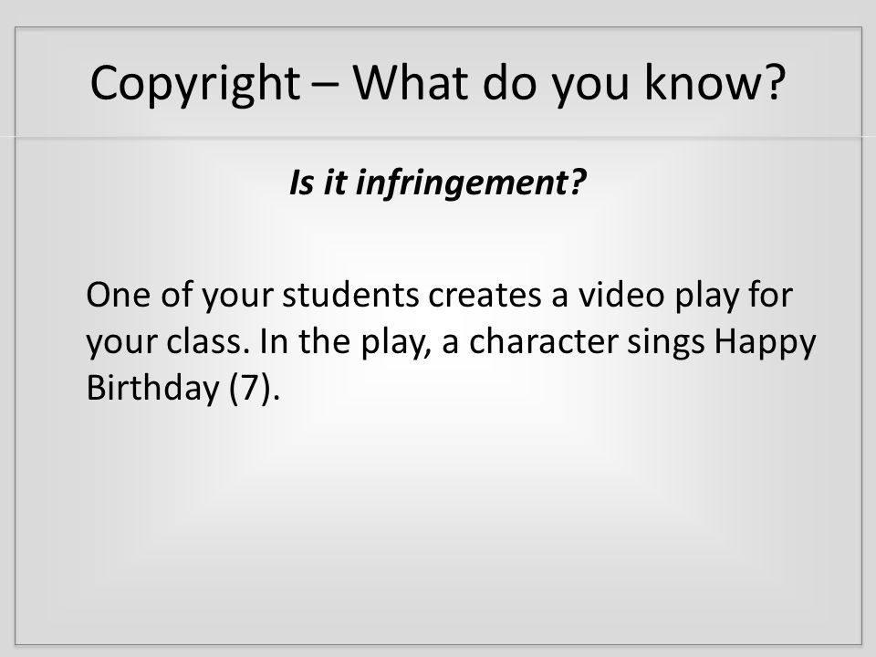 Copyright – What is it.