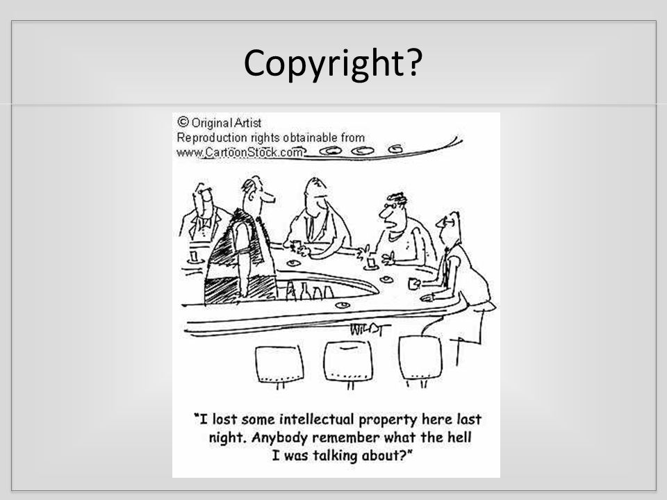Fair Use – Four Factors 1.Purpose 1.Nature 1.Amount 1.Effect Why are you using this work.