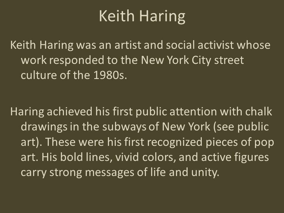 Keith Haring drawing in subway ca. 1981